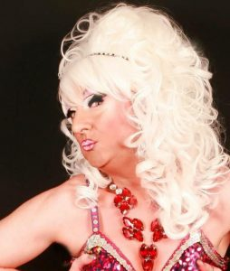 Dixi Tucker - our hostess for the Manchester Gay Wedding Show